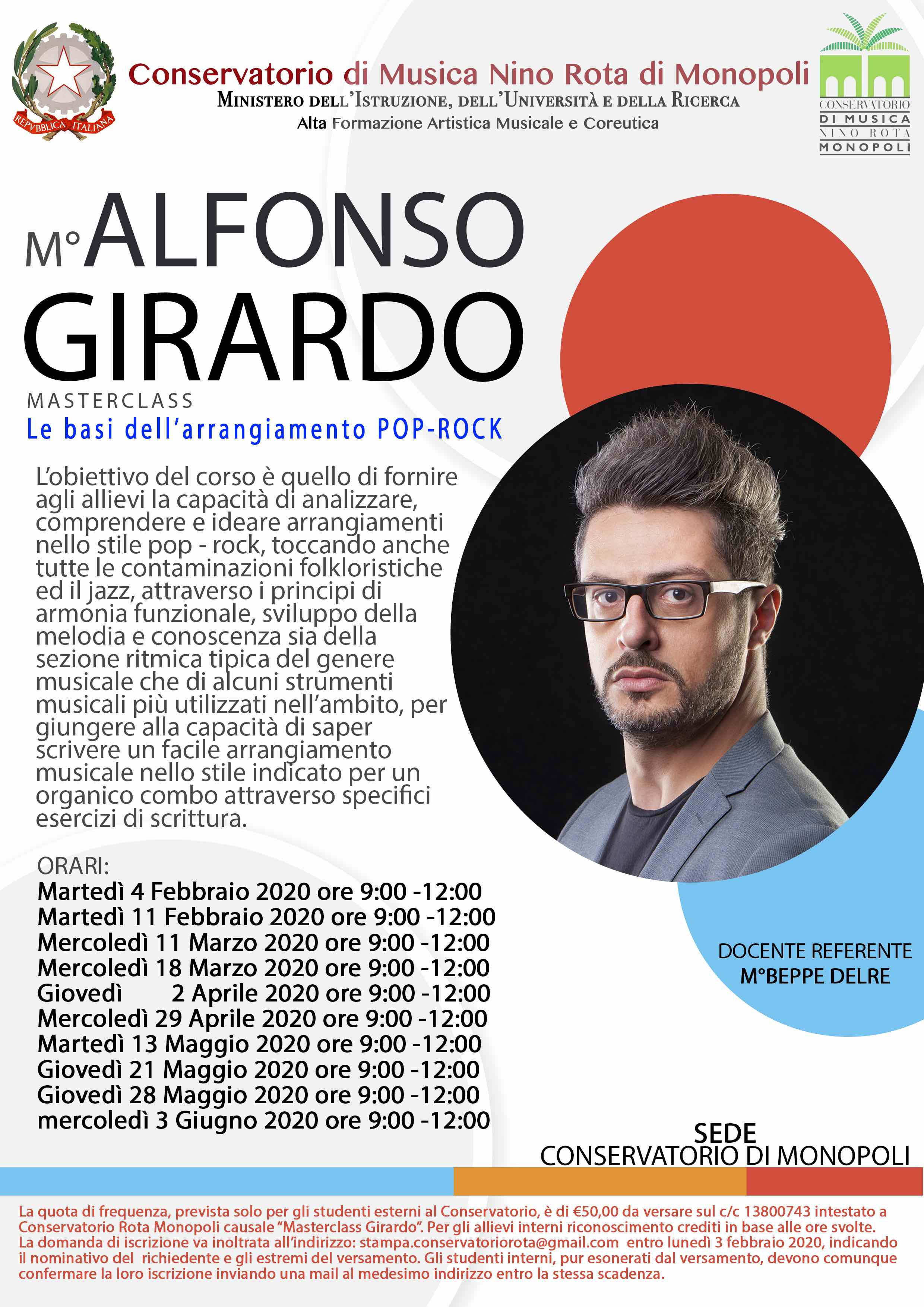 MASTERCLASS DI ARRANGIAMENTO POP-ROCK